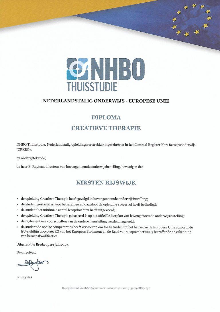 Diploma Creatieve Therapie